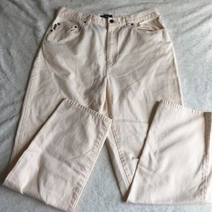 Cream Ralph Lauren Pants